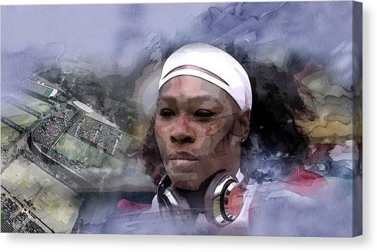 Serena Williams Canvas Print - Sports 219755 by Jani Heinonen