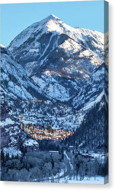 Canvas Print featuring the photograph Spotlight On Ouray by Denise Bush