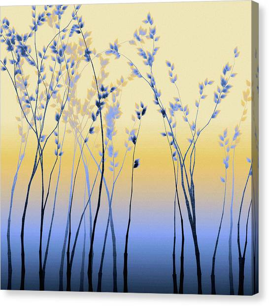 Canvas Print featuring the digital art Spring Aspen by Susan Maxwell Schmidt