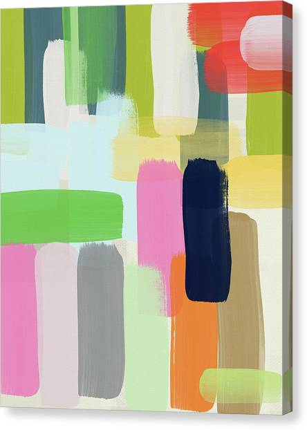 Stripe Canvas Print - Spring Breeze- Art By Linda Woods by Linda Woods