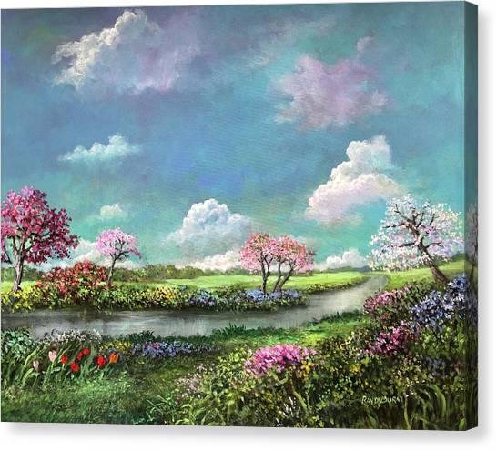 Spring In The Garden Of Eden Canvas Print