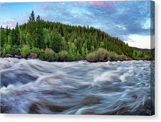 Teton National Forest Canvas Print - Spring Runoff by Leland D Howard