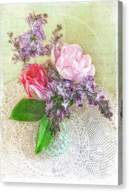 Spring Song Floral Still Life Canvas Print