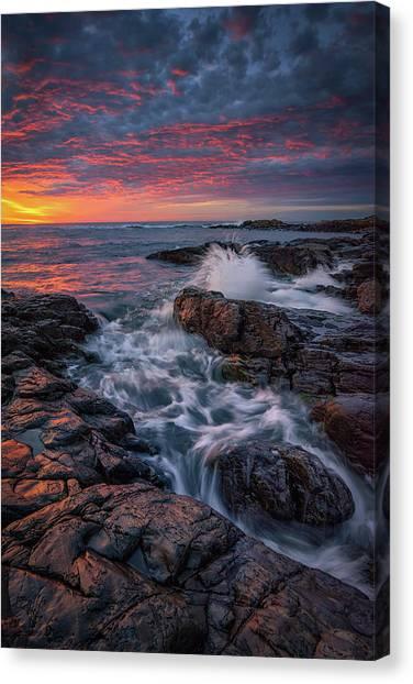 Spring Sunrise At Marginal Way Canvas Print