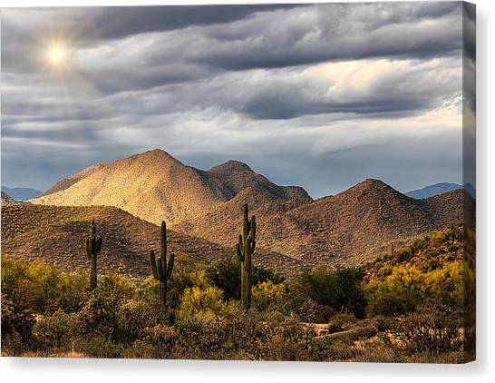 Canvas Print - Spring Sunrise In The Southwest  by Saija Lehtonen