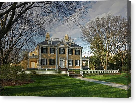 Springtime At Longfellow House Canvas Print