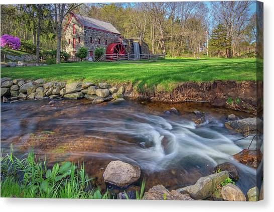 Springtime At The Grist Mill Canvas Print