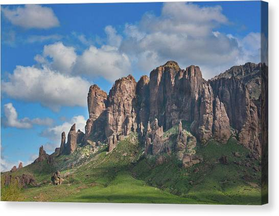 Springtime In The Superstition Mountains Canvas Print