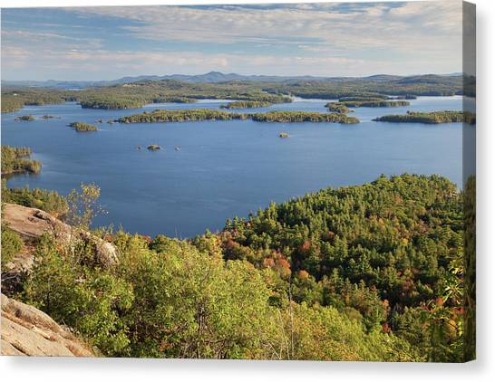 Squam Lake, New Hampshire Canvas Print by Denisebush