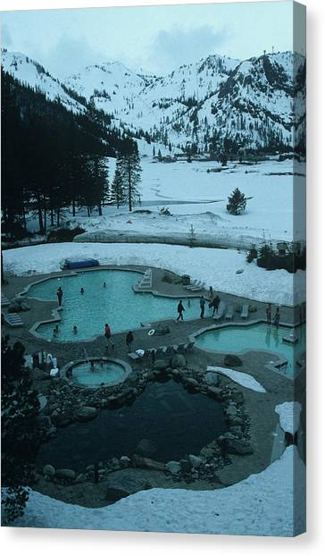 Squaw Valley Pool Canvas Print