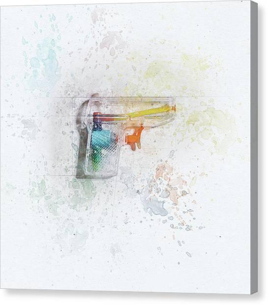 See Canvas Print - Squirt Gun Painted by Scott Norris