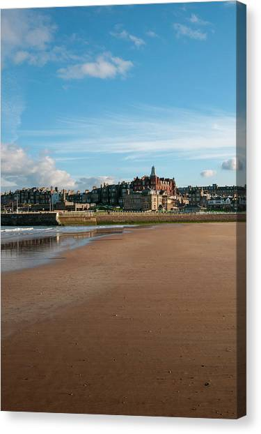 Golfers Canvas Print - St Andrews, Fife by Smart Aviation