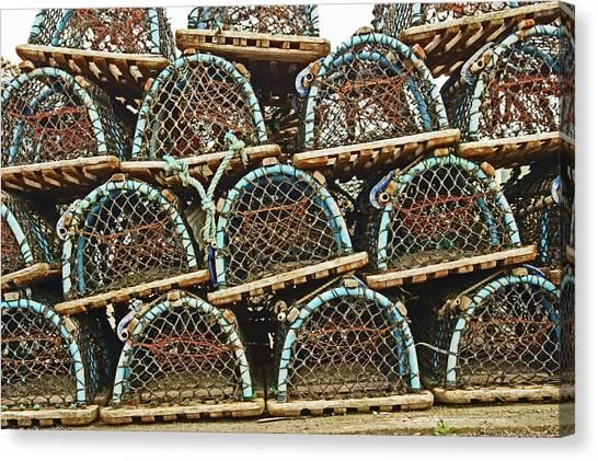 St. Andrews. Lobster Pots. Canvas Print