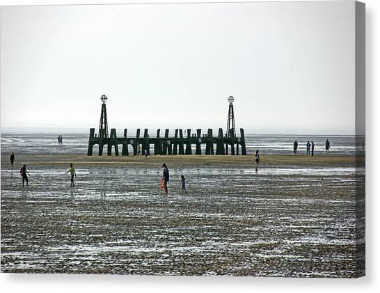St. Annes. On The Beach. Canvas Print