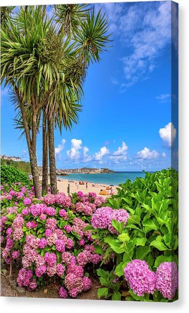 St Ives Cornwall - Summer Time Canvas Print