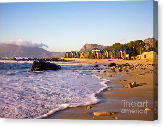 Southern Rock Canvas Print - St James Beach With Its Colorful by Andrea Willmore