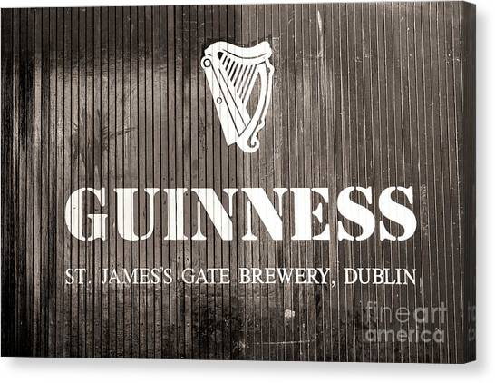 St. Patricks Day Canvas Print - St. James Gate Brewery Dublin by John Rizzuto