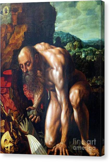 State Hermitage Canvas Print - St. Jerome by Peter Barritt