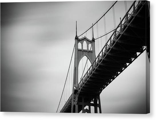 Canvas Print featuring the photograph St. Johns Bridge by Nicole Young