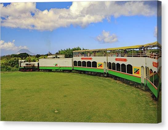 Canvas Print featuring the photograph St Kitts Railway by Tony Murtagh
