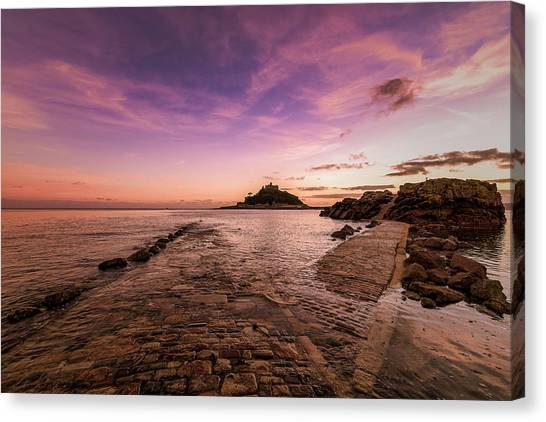 St Michael's Mount - January Canvas Print