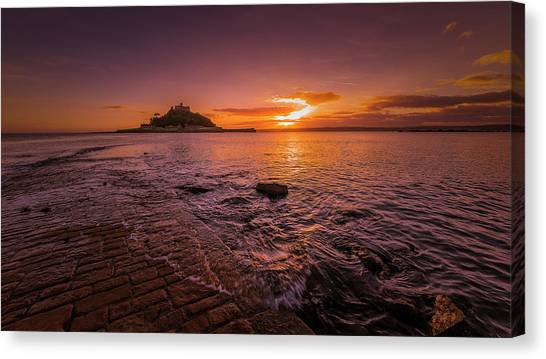 St Michael's Mount - January Sunset Canvas Print