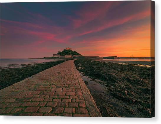 St Michael's Mount Sunset Canvas Print