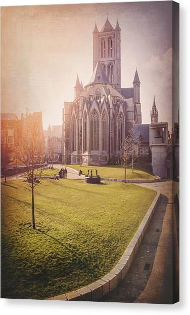 Gent Canvas Print - St Nicholas Church Ghent Belgium  by Carol Japp