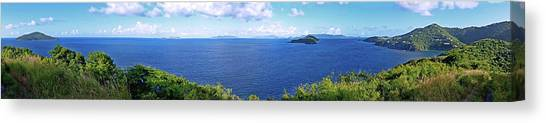 St. Thomas Northside Ocean View Canvas Print