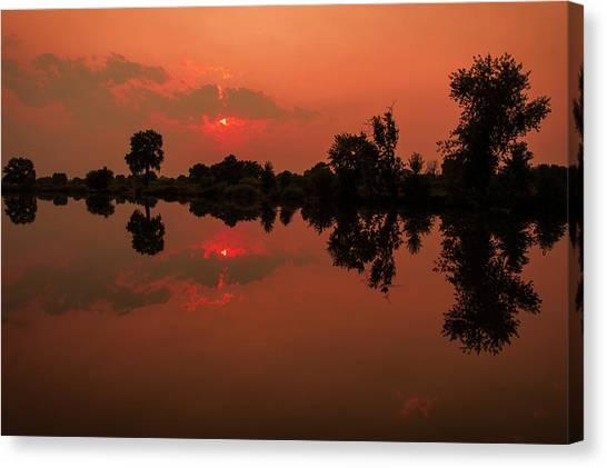 St. Vrain Sunset Canvas Print