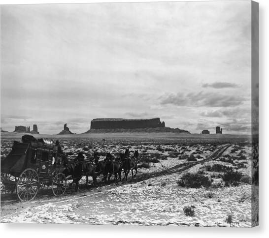 Stagecoach Canvas Print by Hulton Archive