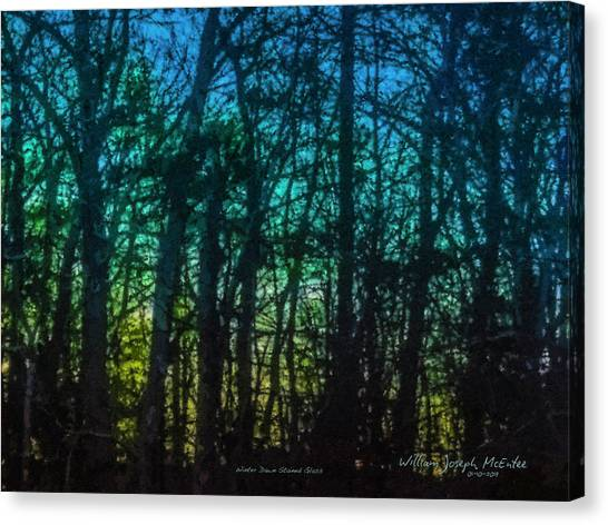 Stained Glass Dawn Canvas Print