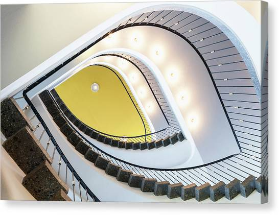 Staircase In The Aok Building, Near Canvas Print