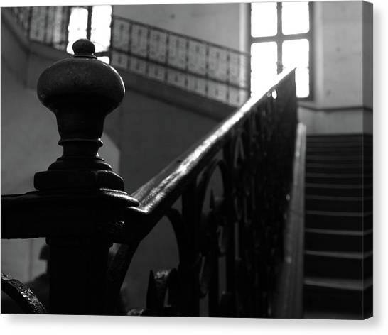 Stairs, Handrail Canvas Print