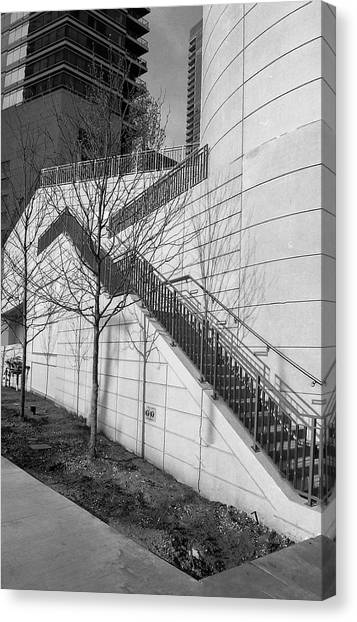 Stairs Up The Side Canvas Print