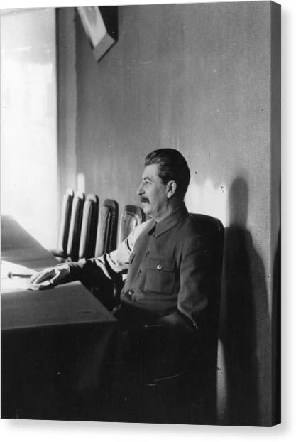 Stalin Canvas Print by James Abbe