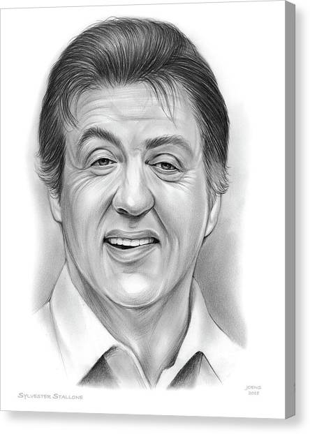 Boxers Canvas Print - Stallone 16sep18 by Greg Joens