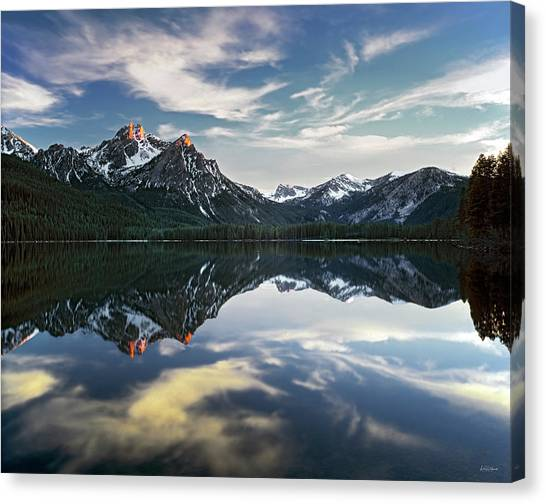 Stanley Lake Canvas Print by Leland D Howard