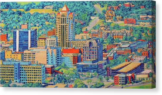 Dr. Pepper Canvas Print - Star City Of The South - Roanoke Virginia by Bonnie Mason
