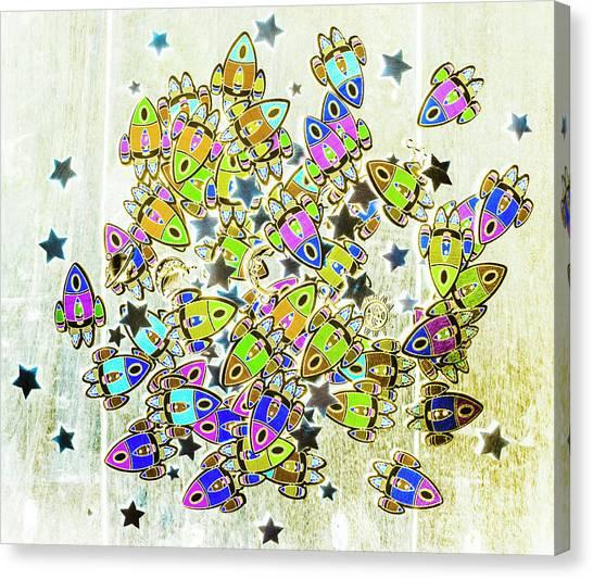 Constellations Canvas Print - Star Fleet by Jorgo Photography - Wall Art Gallery