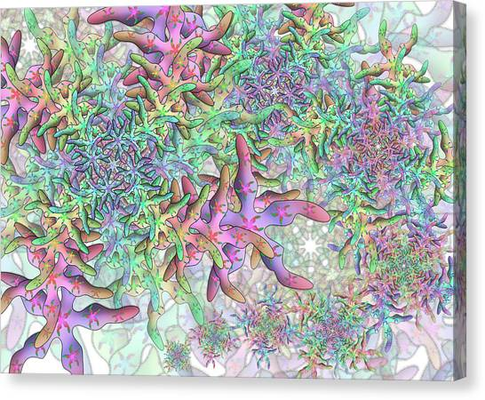 Canvas Print featuring the digital art Star Remix Two by Vitaly Mishurovsky