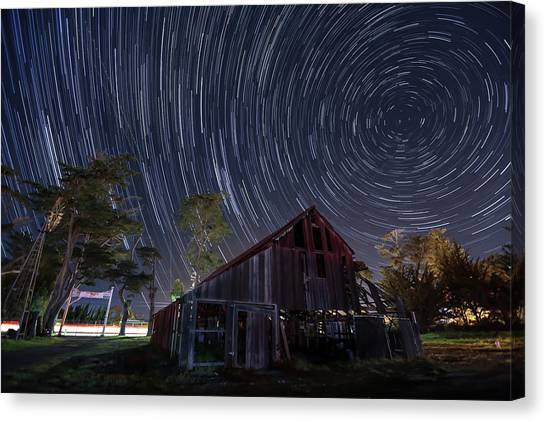 Star Trails Over Bonetti Ranch Canvas Print