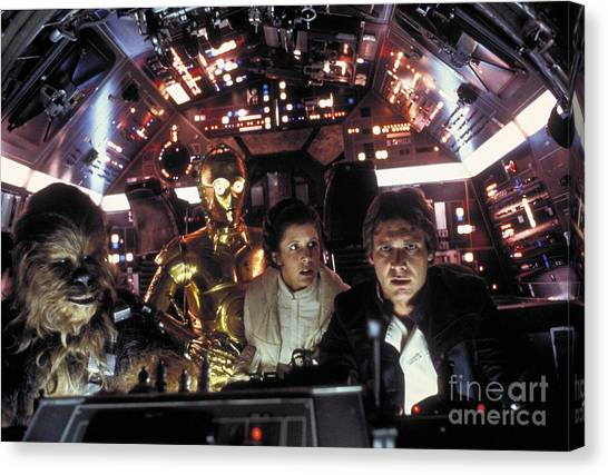 Han Solo Canvas Print - Star Wars Promotional Photo by The Titanic Project