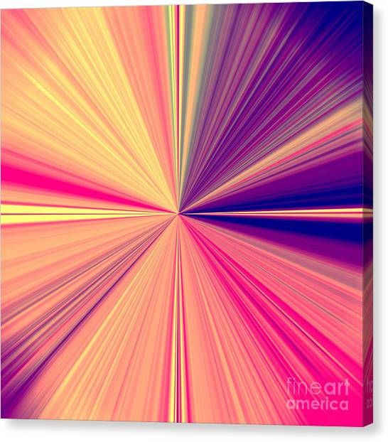 Starburst Light Beams In Abstract Design - Plb457 Canvas Print