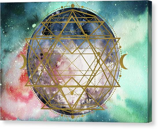 Canvas Print featuring the digital art Starchild by Bee-Bee Deigner
