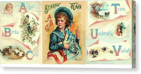 Starry Flagg Wrap A Round Canvas Print