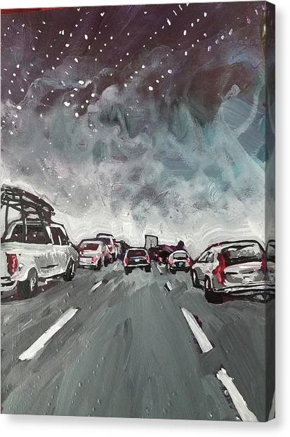 Starry Night Traffic Canvas Print