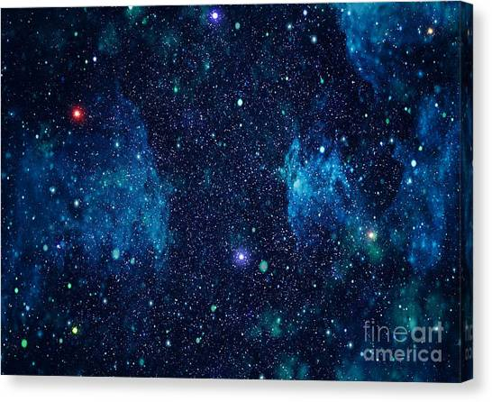Starry Outer Space Background Texture Canvas Print by Zakharchuk
