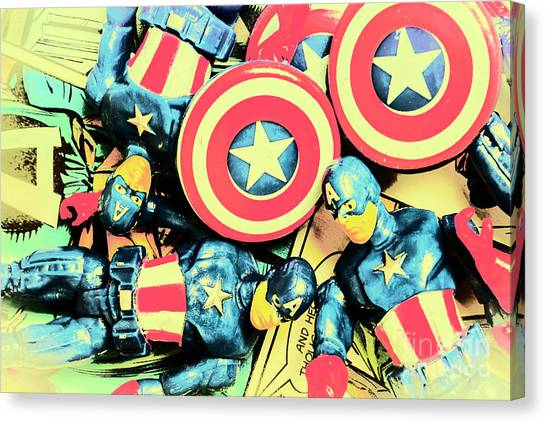 Comic Canvas Print - Stars Of Freedom Fighters by Jorgo Photography - Wall Art Gallery