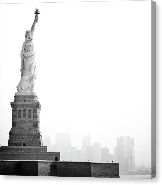 Sky Canvas Print - Statue Of Liberty by Image - Natasha Maiolo